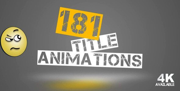 181 title animations - After Effects Intro & Title Templates
