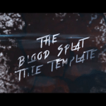 Blood Splat Title