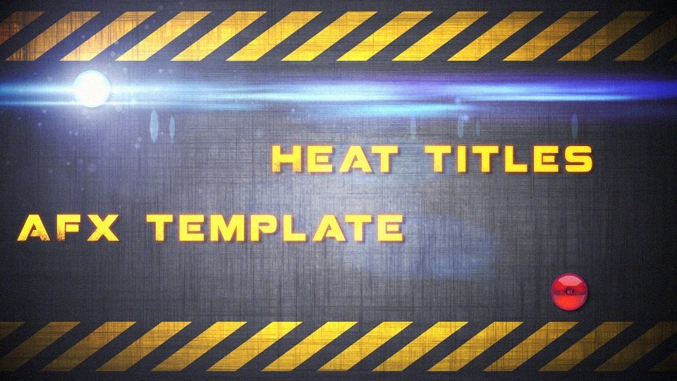 The Heat After Effects Template