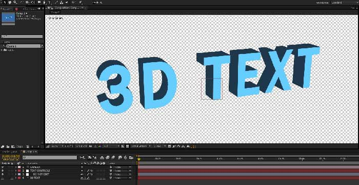 3d text project file