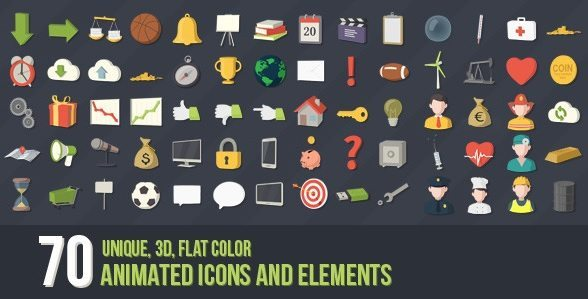 70 3d icons