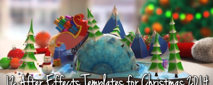 After Effects Templates for Christmas 2014