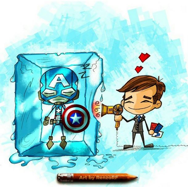 Captain America Hilarious Piece of Artwork