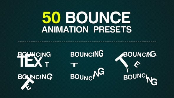 50 bounce animation presets