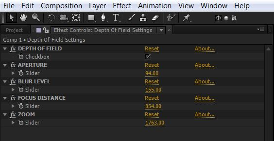 Easy Way to Set up Depth of Field in After Effects