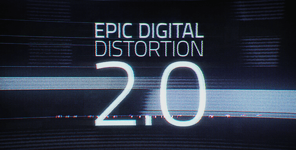 Epic digital distortion - After Effects Intro & Title Templates