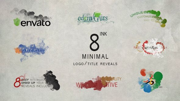 Minimal ink logo - After Effects Intro & Title Templates
