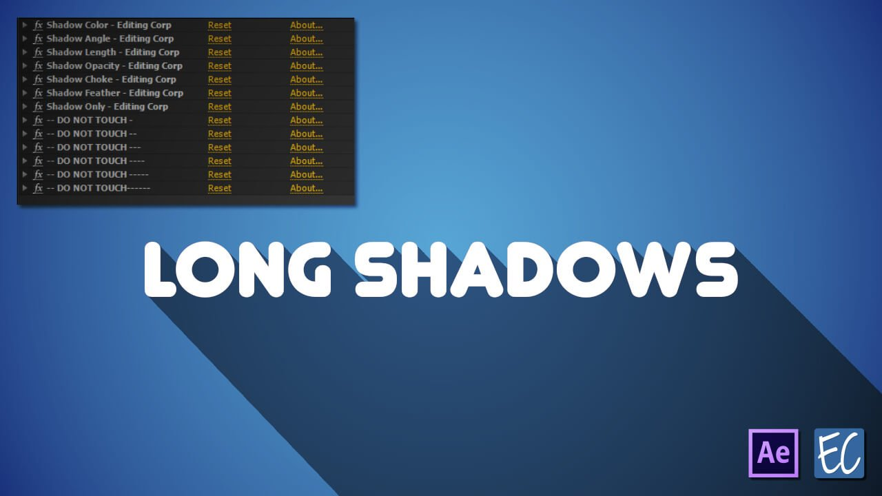 long shadows preset after effects