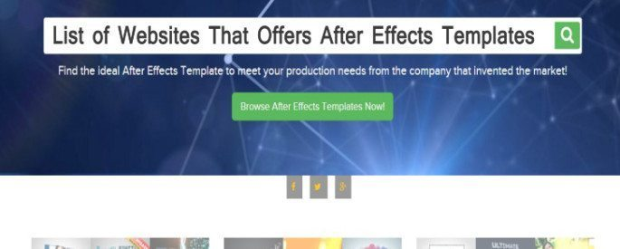 Websites That Offers After Effects Templates