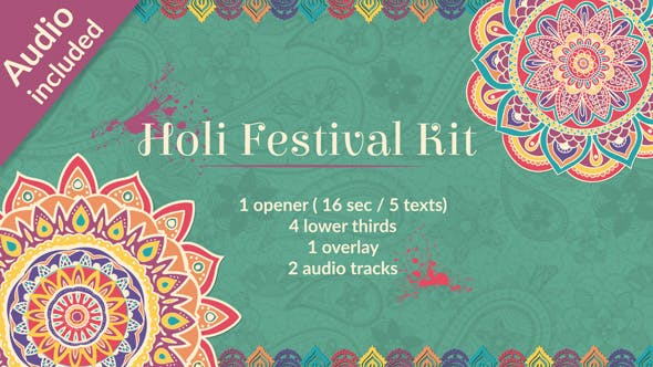 Happy Holi After Effects Templates