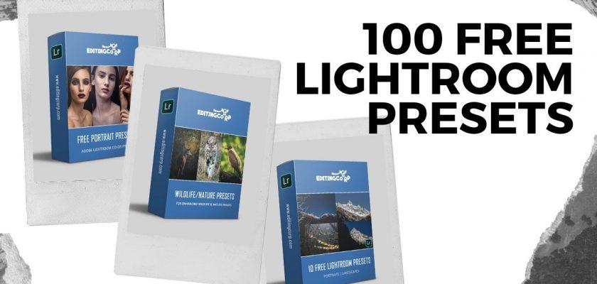 100 FREE LIGHTROOM PRESETS
