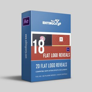 18 flat logo reveal After effects template