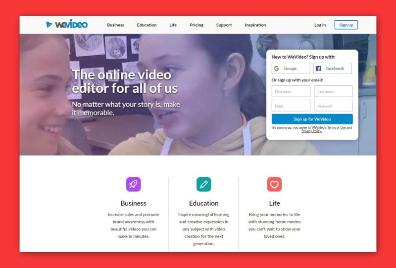 Wevideo Online Video Editors for YouTube
