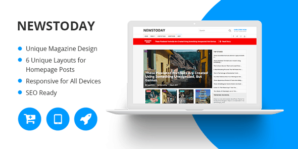 NewsToday free wordpress themes mythemeshop