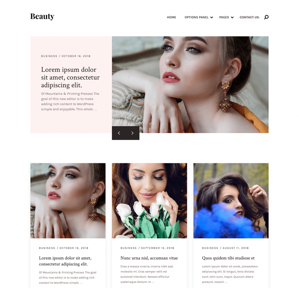 Beauty wordpress theme