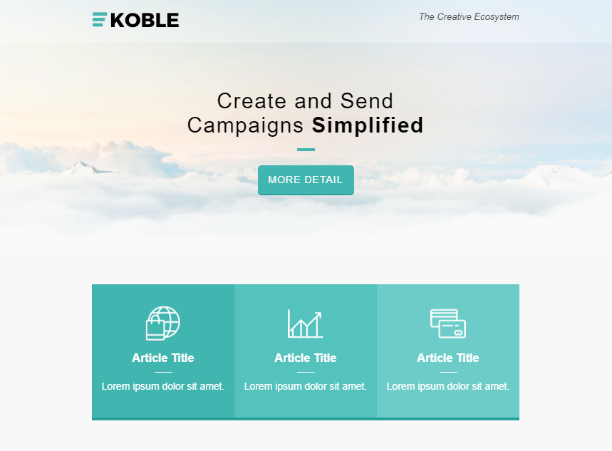 Koble Business Email Templates