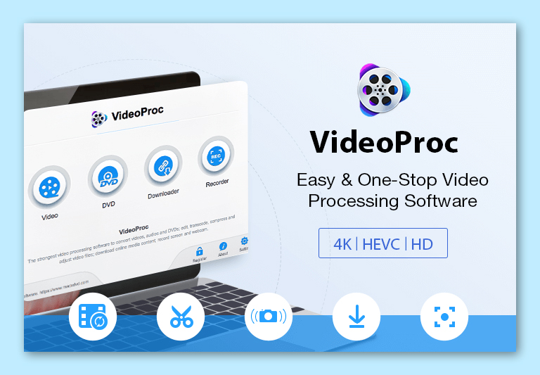 videoproc - 4k video editing software