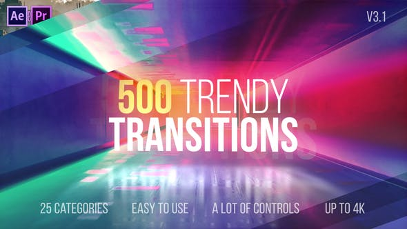 500 trendy transitions