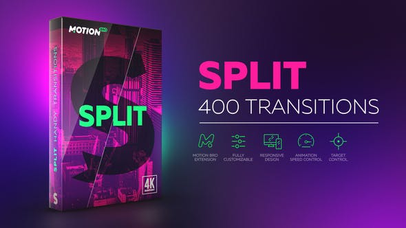 split After Effects Transitions Pack