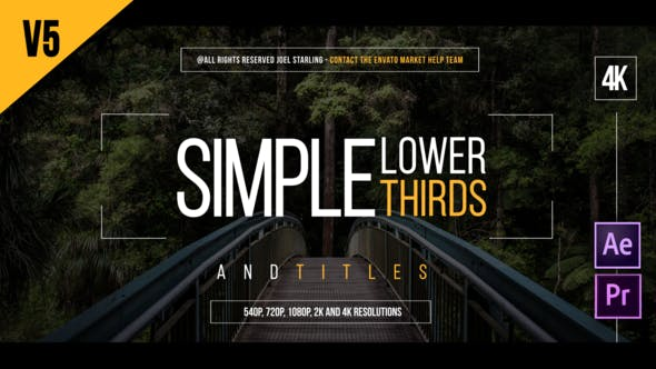 After Effects Lower Thirds Templates