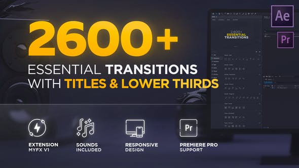 2600+ After Effects Transitions Pack