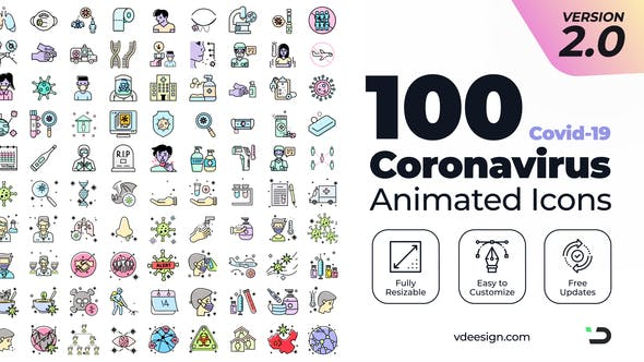 coronavirus animated icons