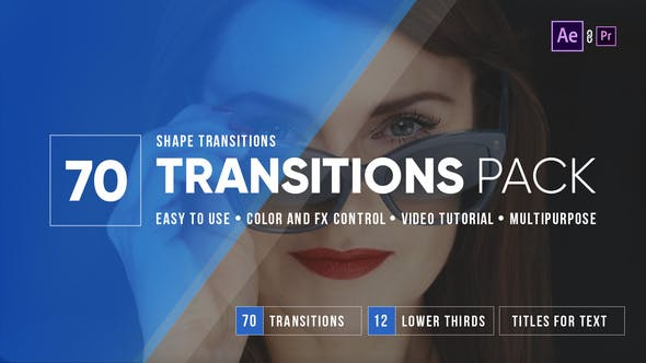70 After Effects Transitions Pack