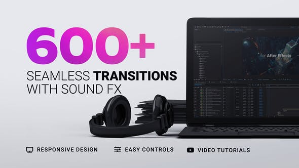600+ After Effects Transitions Pack