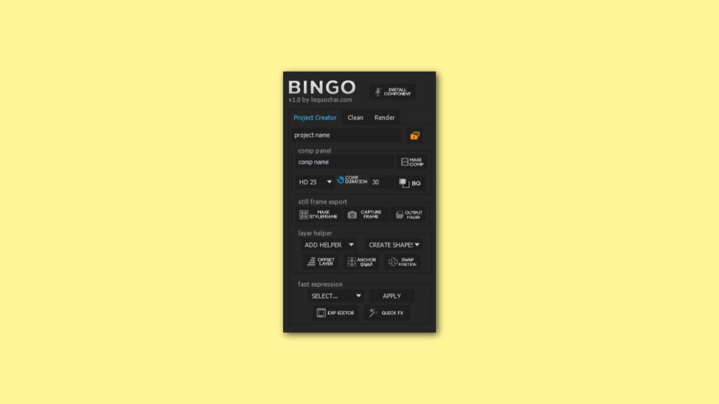 bingo for after effects