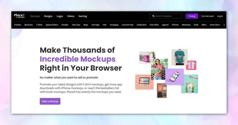 placeit Online Mockup Generator