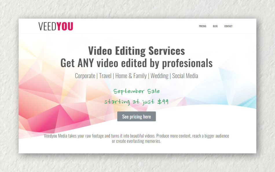 Veedyou Online video editing services