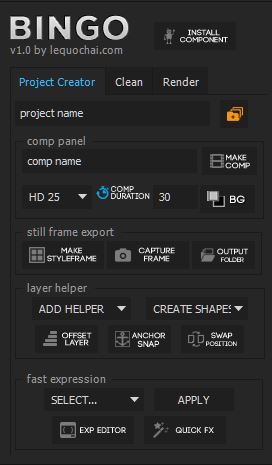 project creator tab