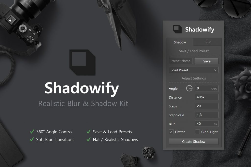 Shadowify photoshop plugins
