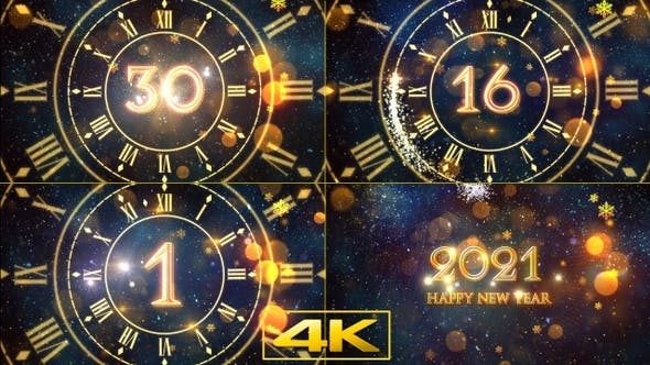 New Year Countdown 2021 Templates For After Effects
