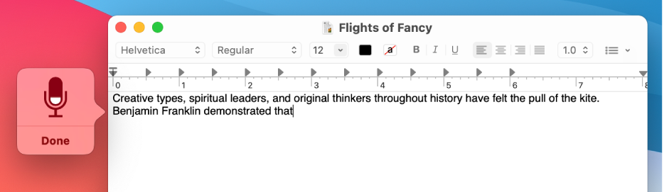 Tip 6 – Use the Dictation Feature