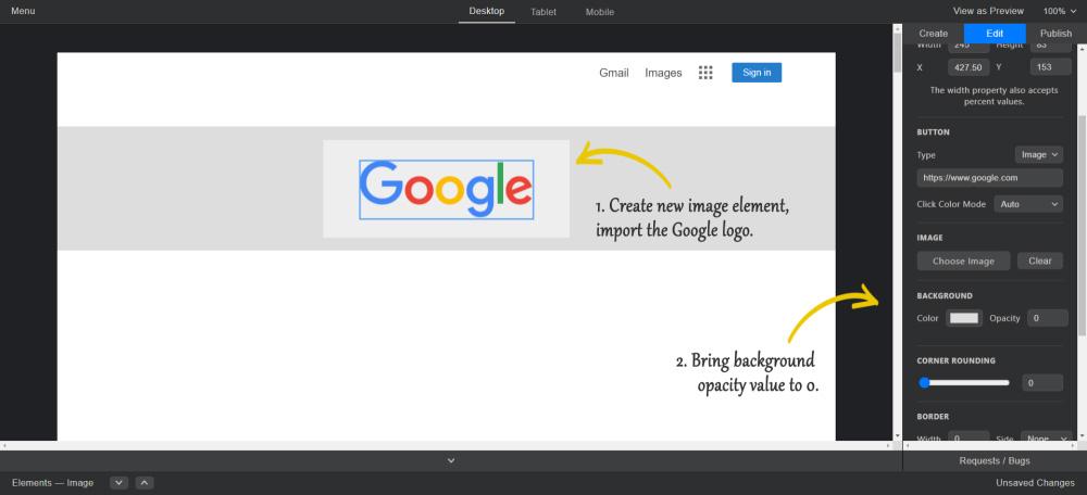 Create image element