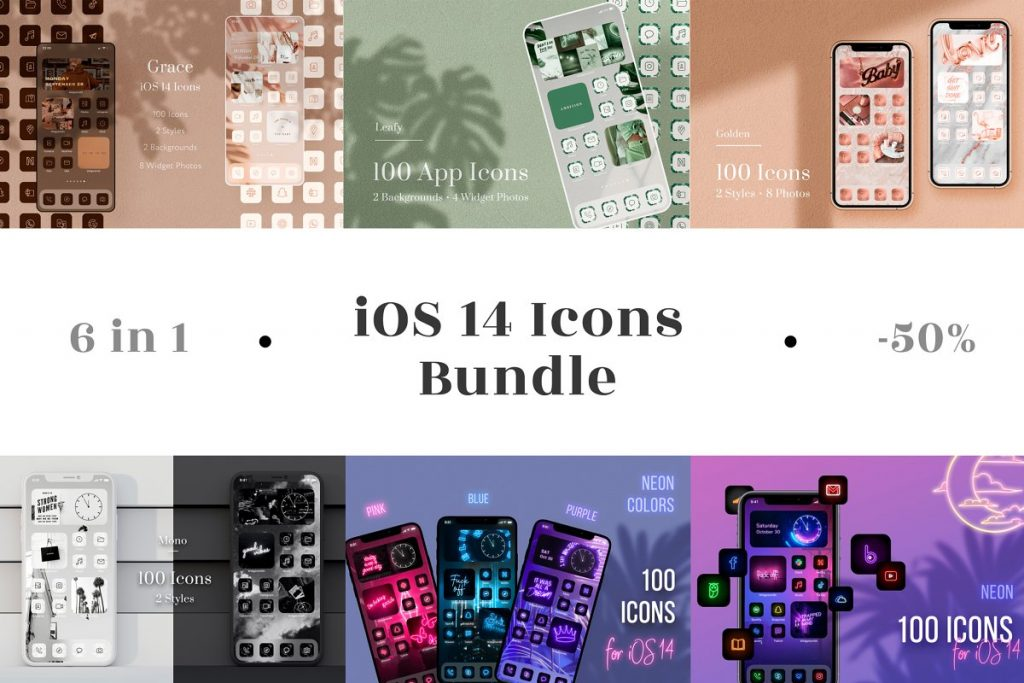 Icon pack 6 in 1 Bundle