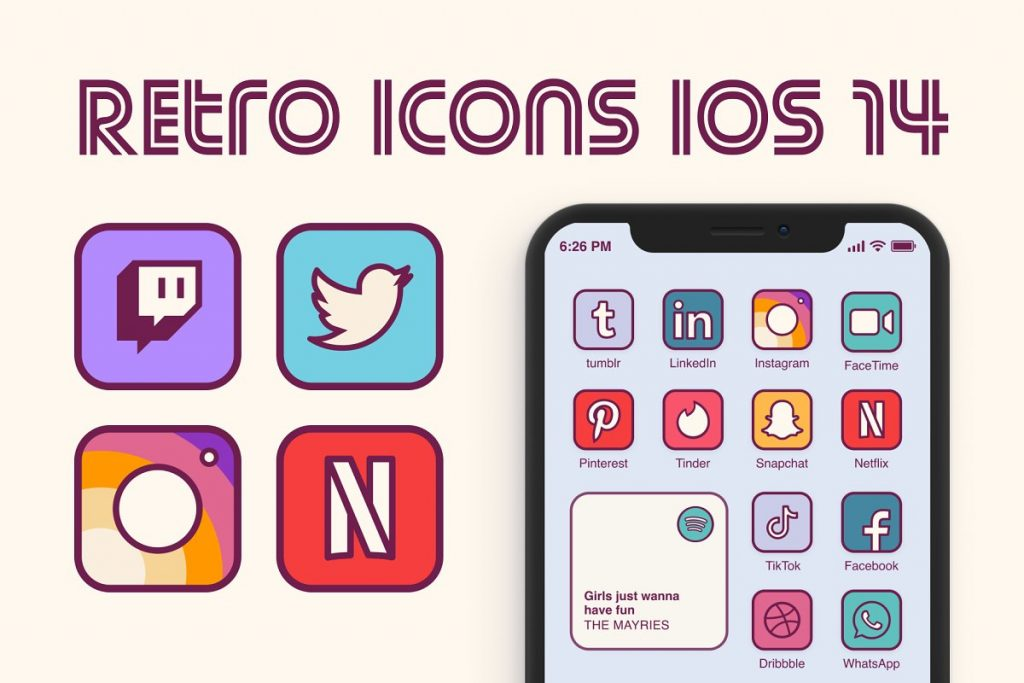 Retro iOS 14 Icon Pack