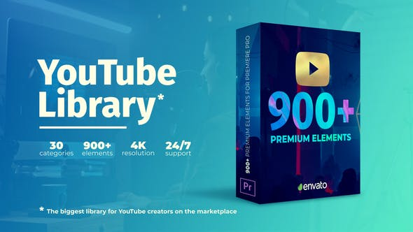 YouTube Library - youtube design assets