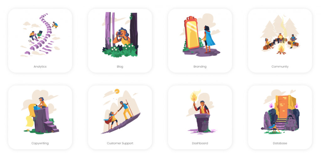 44 Adventure Vector Illustrations