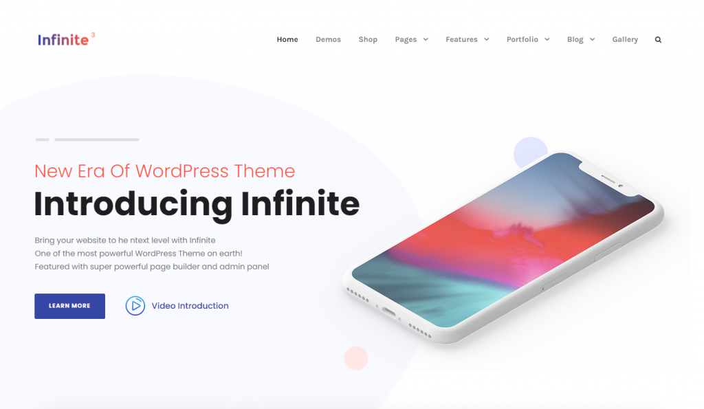 Infinite - Premium WordPress Themes of 2021