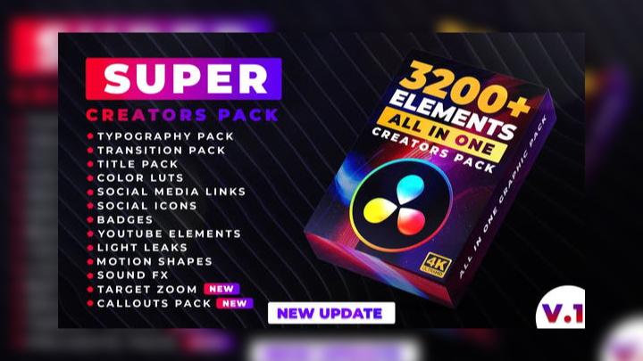 Super Creators Pack - DaVinci Resolve templates