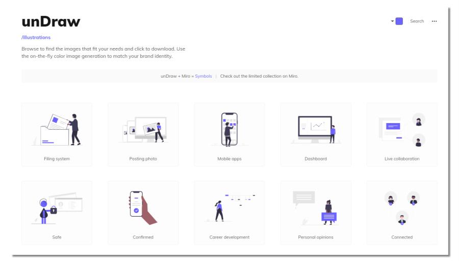 Undraw - free illustrations