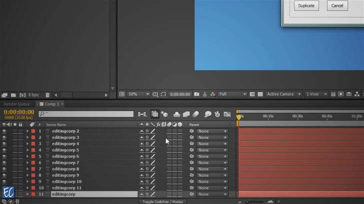 After Effects Script Duplicating Layers