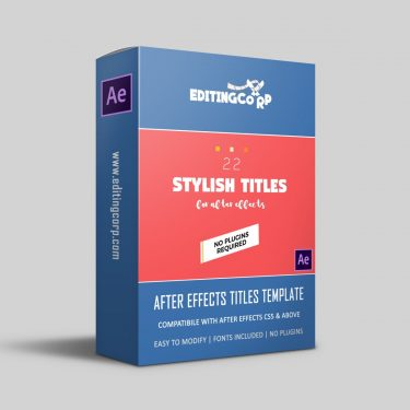 22 Stylish Titles After Effects