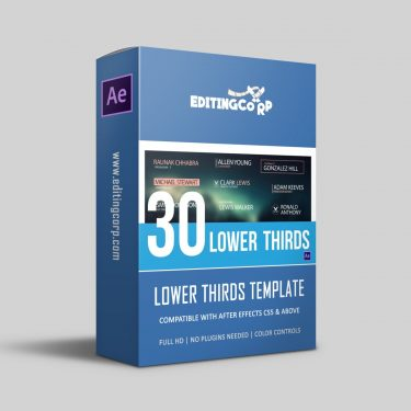 30 lower thirds after effects template
