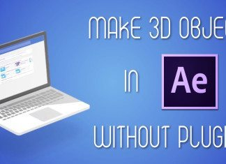 3d objects without plugin after effects