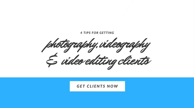 4 tips for getting photography clients