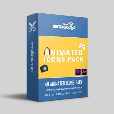 40 animated icons fpr after effects