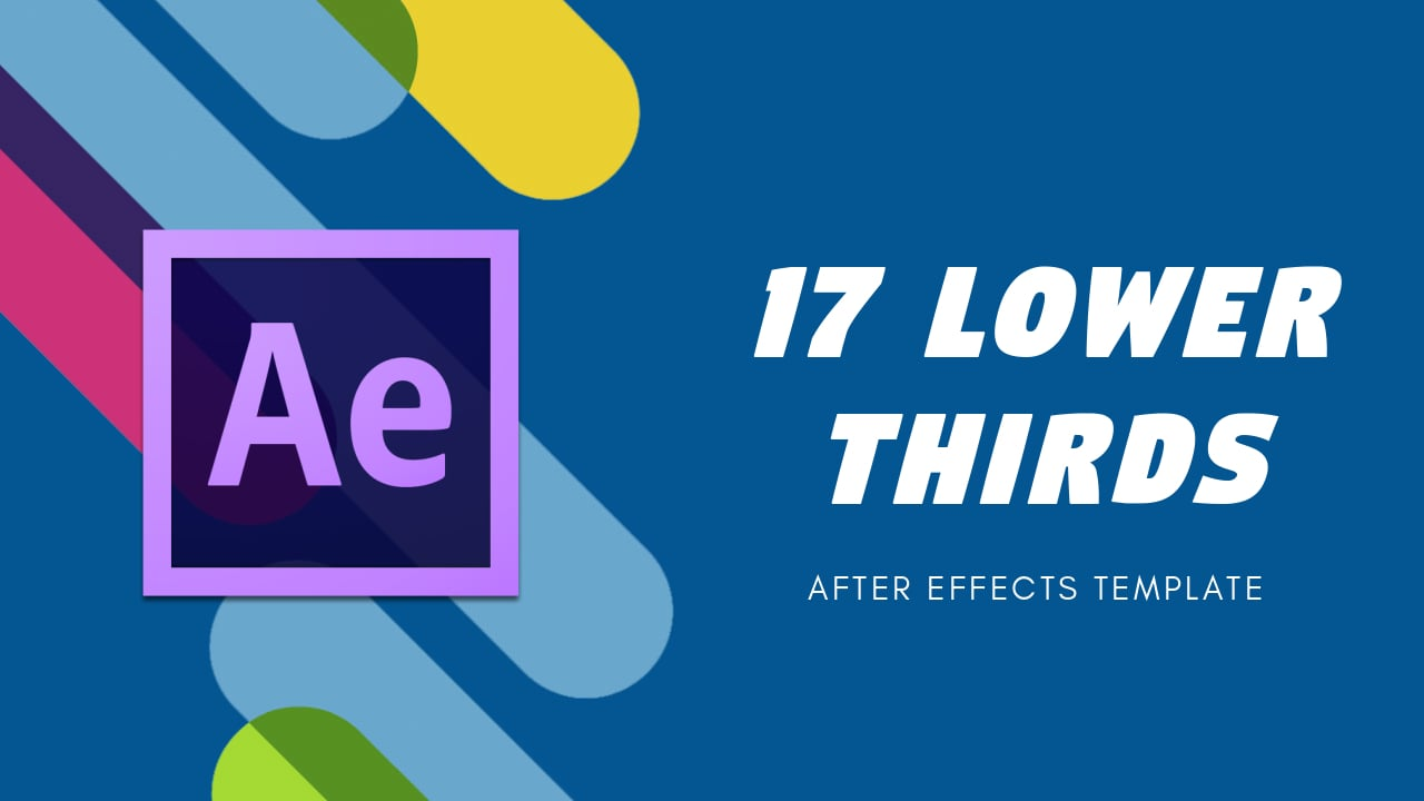 17 elegant lower thirds after effects template for Final cut pro lower thirds templates